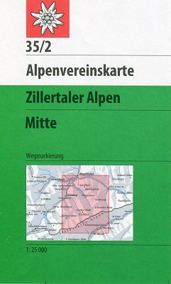 35/2 Zillertaler Alpen Mitte