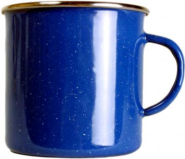 Emaille Tasse blau 550ml