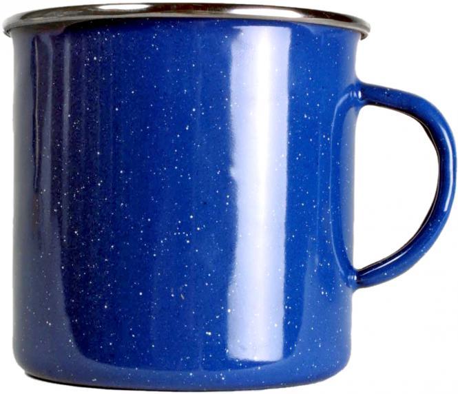 Emaille Tasse blau 360ml
